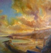 Kate Van Suddese Greeting Card - The Sunshine Bay - Cullercoats